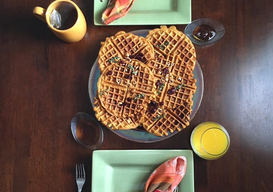Thanksgiving Leftovers: Sweet Potato Pie Waffles