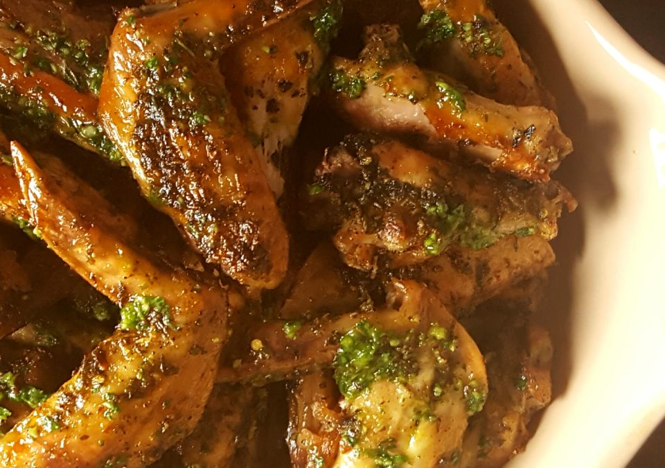 That baked chicken wing recipe with no name