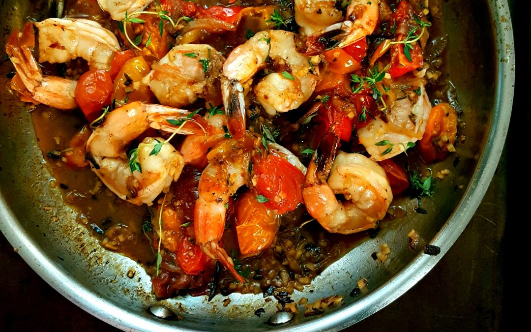 Ginger Shrimp with Roasted Tomatoes